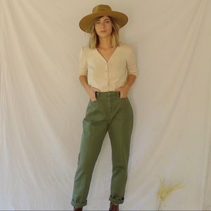 Vintage Olive Trousers